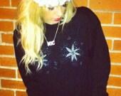 Cute 80's Black Knitted Jumper S/M