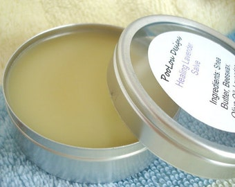 Organic Hand Salve with Lavender Essential Oil, Beeswax, Shea Butter