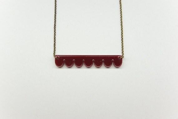 burgundy necklace Alma