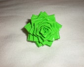Lime Green Duct Tape Flower Ring