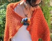 Orange Summer Poncho