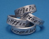 Choose ONE - HP Inspired Hand Stamped Aluminum Ring