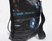 """Reserved for Marina - Eco-friendly bag made from recycled bike inner tubes - """"Fireworks"""""""