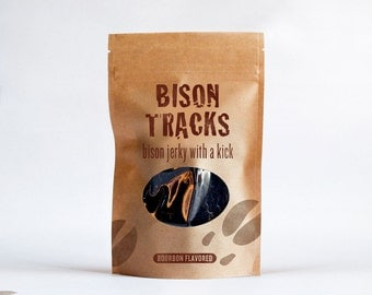 Bison Tracks Bourbon Flavored Jerky 4 oz. Resealable Bag