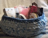 Crocheted Rag Rug Basket