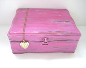 RESERVED for Jenny - Pink Jewelry Box - Shabby Chic Distressed - Upcycled Pretty