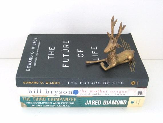 Vintage Brass Deer Figurine - Patina - Unique Eclectic