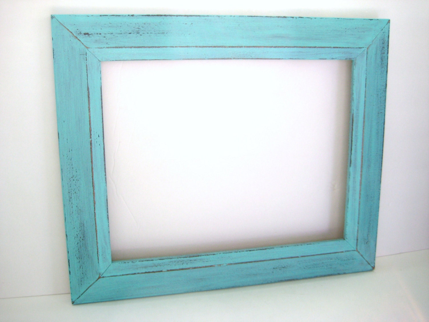 Turquoise Frame 11x14 Picture Frame Distressed