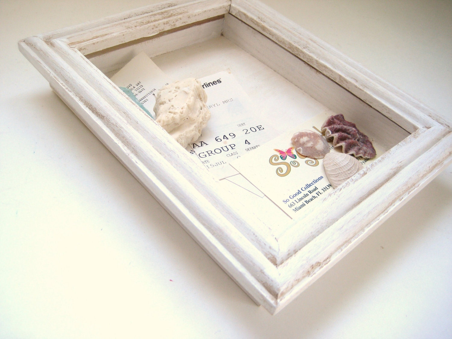 white shadow box hanging picture frame keepsake box zoom