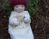 Sweet Peas -  Forest Baby - Small Jointed Waldorf Doll