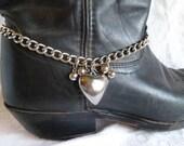 OOAK BOOT BRACELET Western cowgirl Biker Boho boots ROCKaBILLY Rocker choker necklace