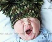 Newborn Pom Pom Beanie