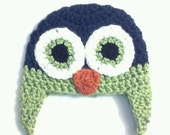 Boys Owl Earflap Hat w/ Braids