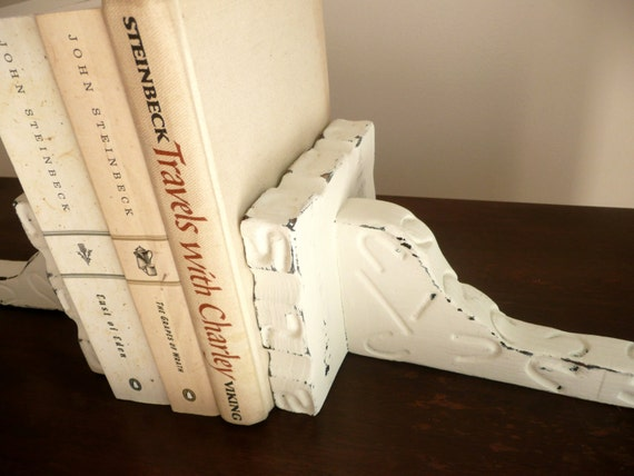 Shabby Chic White Western Shelves Home Decor or Bookends