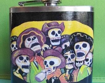 Day of the Dead Flask - La Fiesta