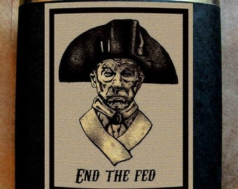 Ron Paul Flask - End the Fed