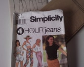 1993 Simplicity Jeans Sewing Pattern No. 8377 (size 18 20 22)