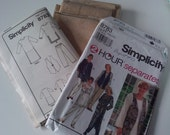 1994 Simplicity Tunic Pants Lined Vest Sewing Pattern No. 8783 (size 18 20 22 24)