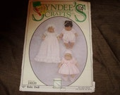 """SYNDEE'S sealed craft pattern 24020 for wardrobe for 12"""" baby doll BAPTISM, CHRISTENING etc"""