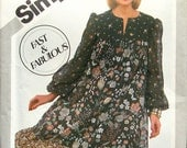 1981 Simplicity pattern 5161 UNCUT PRAIRIE DRESS Fast & Fabulous womens size 10 or 16