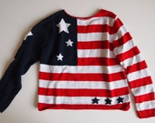 Americana stars and stripes american flag sweater knit size S