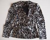 Black and silver lamé blazer jacket size S/M