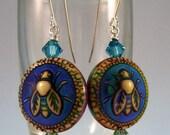 mood bead bee earrings