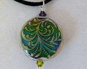 Light fern mood bead pendant