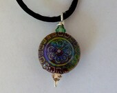 mood bead pendant with flower sun