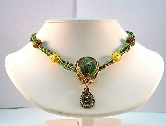 green venice necklace