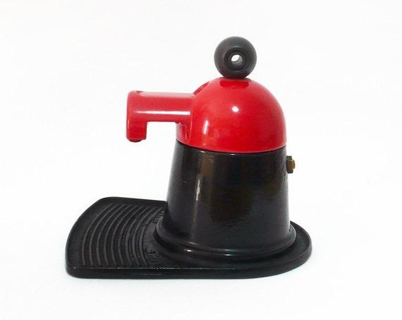 Vintage Italian Red & Black Coffe Maker