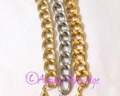 Ho'okahikani (Single) Bright Gold Chunky Chain Bracelet