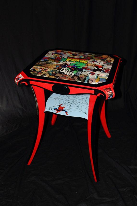 Spiderman Table Vintage Comic Books By Fusionartfurniture