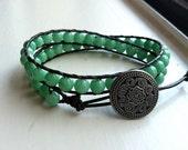 Mint Green Dyed Jade Wrap Bracelet