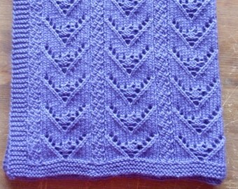 REVERSIBLE BABY BLANKET KNITTING PATTERN FREE - VERY ...