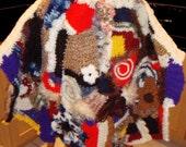 Boho Freeform Multicolor Knit cape