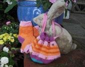 Girls pedicure socks with matching drawstring bag.