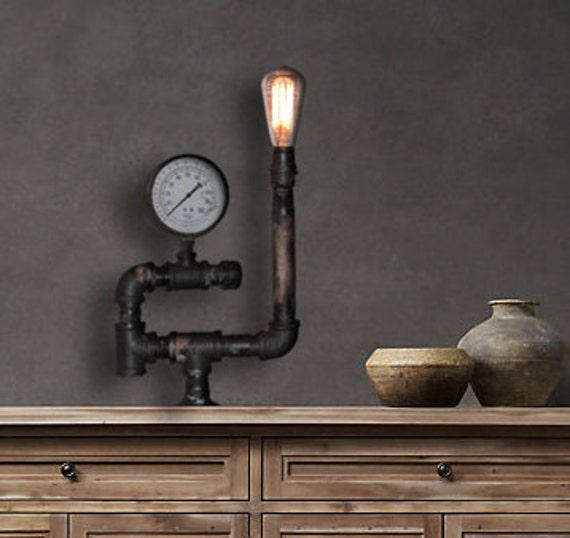 Vintage And Industrial Lighting From Etsy: Vintage Industrial Table Lamp Industrial Lights
