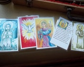 Prayer Cards. Our father, Hail Mary, Holy Spirit, St. Joseph, Guardian Angel