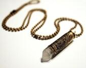 Paisley Punishment - Etched Metal Bullet Necklace