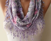 Mother's Day Gift - Lilac Scarf with Trim Edge