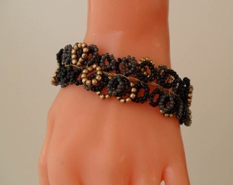 Black - Grey and Golden Color Bracelet - Special Design