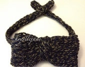 KNIT Bowtie for Baby and Men by KrystleJane
