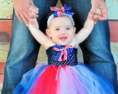 Patriotic 4th of July TUTU Dress and FREE Shipping