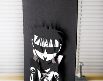 Johnny The Homicidal Maniac - JTHM - hand cut 3D paper craft