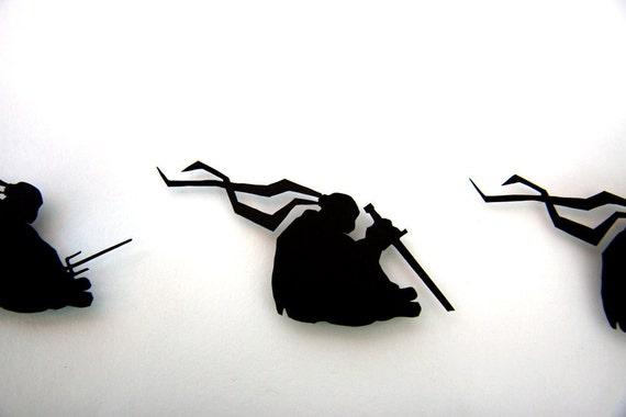 Teenage Mutant Ninja Turtles Solemn Turtles - hand cut 3D paper craft in shadowbox geek wall art TMNT