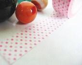Pink Polka Dots Washi Paper Tape, Dots Washi Tape, Pink Polka Dots