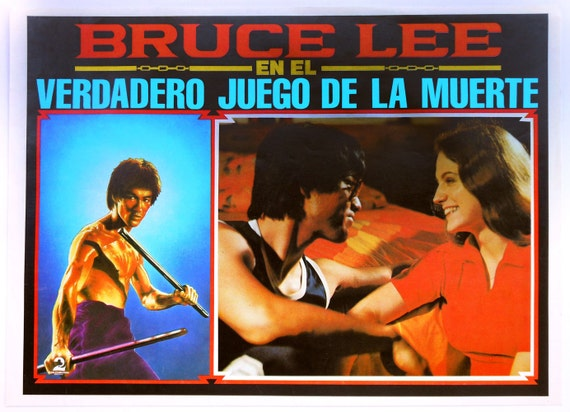 "RESERVED Vintage Movie Poster: ""The True Game of Death"" with Bruce Lee, Mexican Lobby Card"