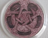 Wicca Pentacle with Crescent Moon Refrigerator Magnet FREE US SHIPPING