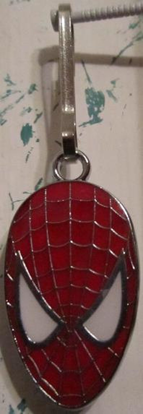 Marvel Comics Amazing Spider-Man Keychain Key Fob Zipper Pull Dog Cat Collar Charm FREE US SHIPPING